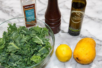 Massaged Kale Salad with Mango Ingredients