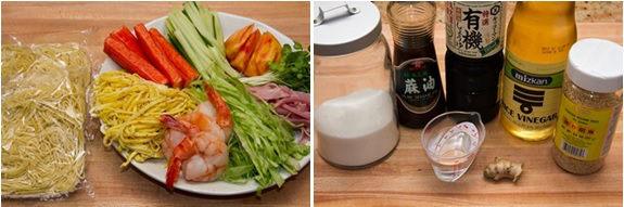 Hiyashi Chuka Ingredients