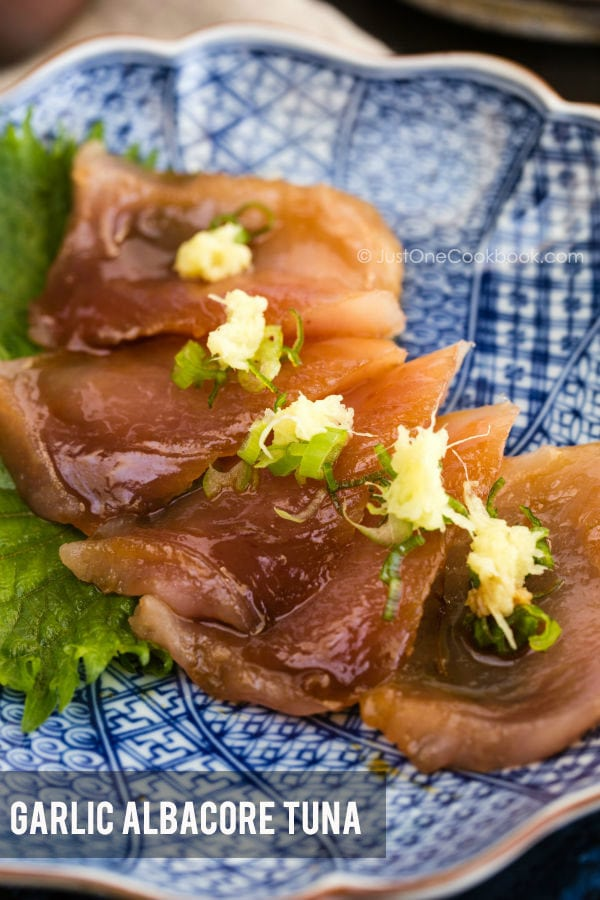 Garlic Albacore Tuna | Easy Japanese Recipes at JustOneCookbook.com