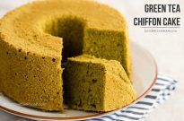 Green Tea Chiffon Cake 抹茶シフォンケーキ