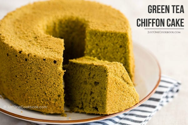 Green Tea Chiffon Cake | Easy Japanese Recipes at JustOneCookbook.com