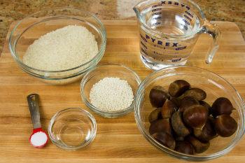Chestnut Rice Ingredients