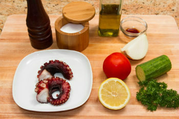 Octopus Carpaccio Ingredients