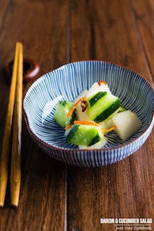 daikon and cucumber salad with shio koji | Just One Cookbook