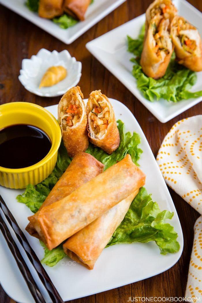 Harumaki (Japanese Egg Roll)   Easy Japanese Recipes at JustOneCookbook.com