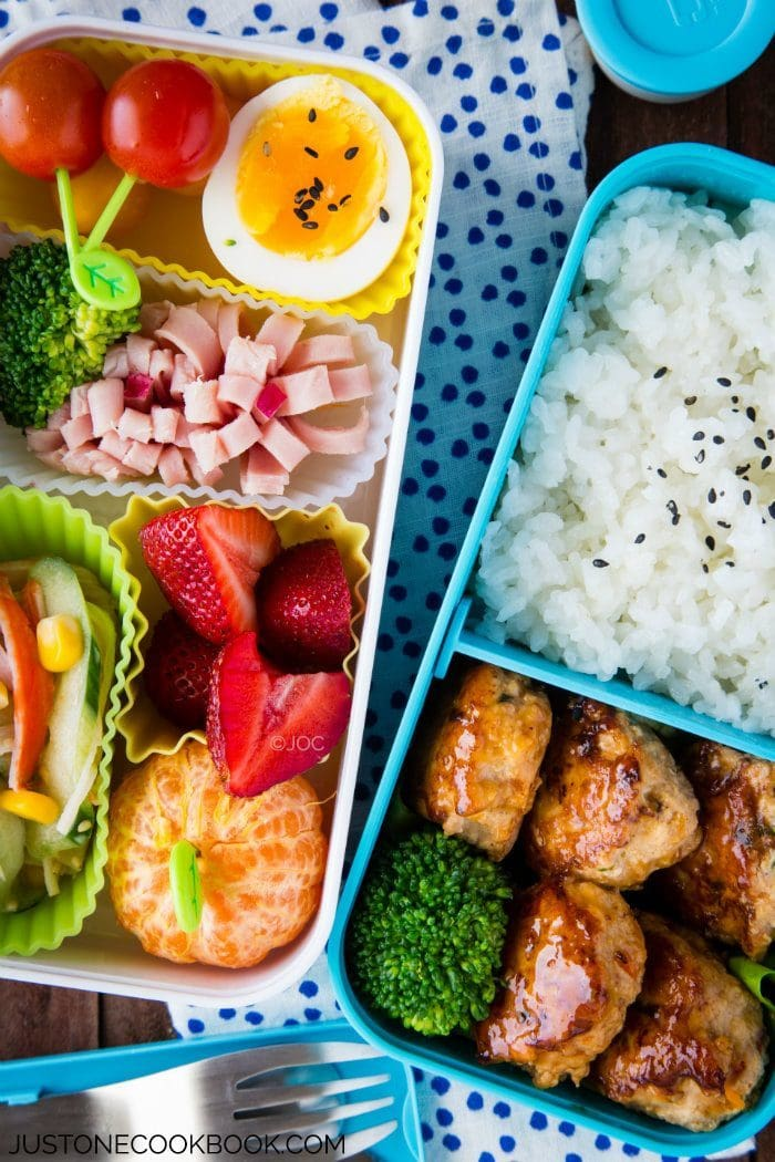 Chicken Meatball Bento | Easy Japanese Recipes at JustOneCookbook.com