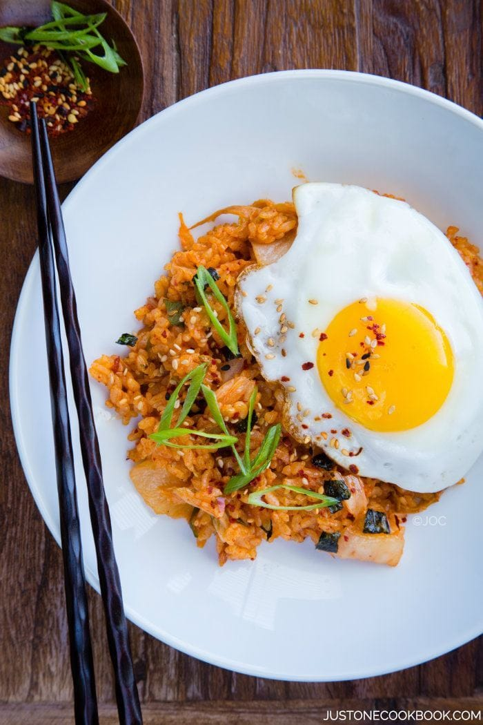 kimchi fried rice The pungent, highly seasoned fermented cabbage is the korean equivalent of  soul food think of it as 5-alarm sauerkraut here's how to make.
