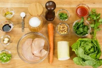 Thai Chicken Lettuce Wraps Ingredients