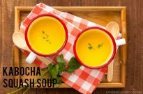 Easy-to-follow, creamy and rich Kabocha Squash Soup popular in Japan. Ready in 30 minutes. | Easy Japanese Recipes at JustOneCookbook.com