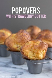 Neiman Marcus Popovers with Strawberry Butter. These homemade airy popovers are light and fluffy in texture. Serve hot with the Strawberry Butter. | JustOneCookbook.com