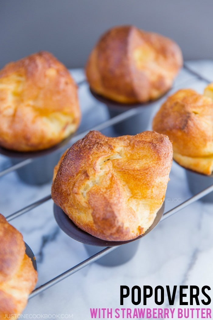 Marcus Popovers with Strawberry Butter. These homemade airy popovers ...