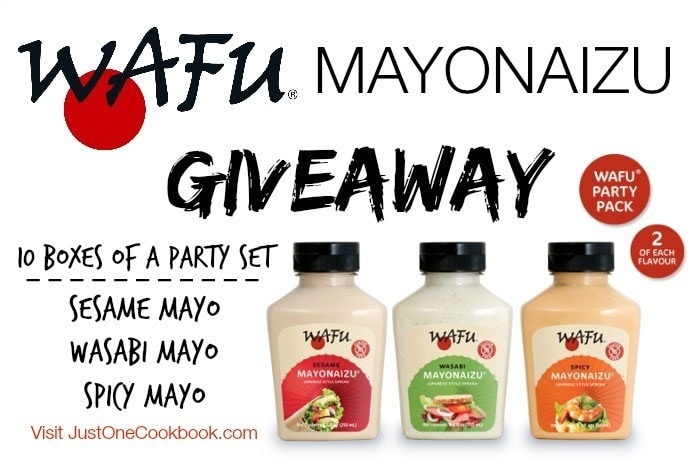 Wafu Mayo Giveaway at JustOneCookbook.com