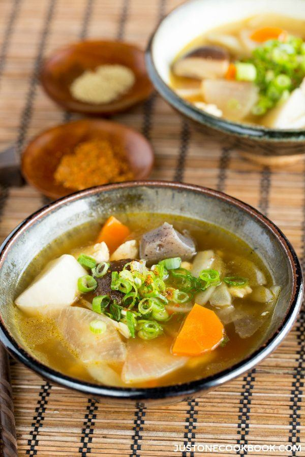 Japanese Vegetable Soup (Kenchinjiru) | Easy Japanese Recipes at ...