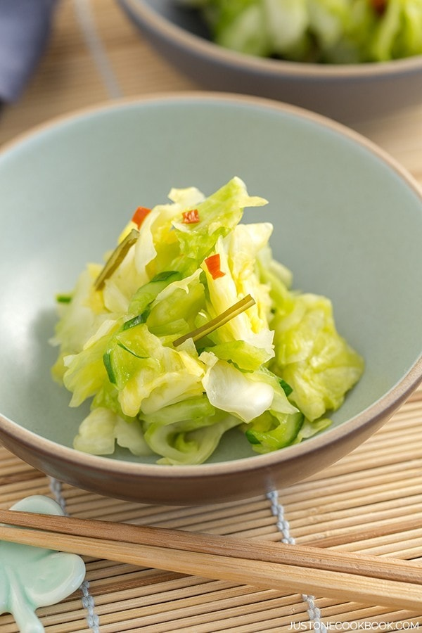 Tsukemono (Japanese Pickled Cabbage)   Easy Japanese Recipes at JustOneCookbook.com