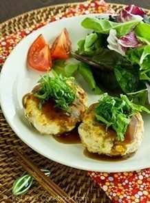 Chicken Tofu Hamburger Steak | JustOneCookbook.com