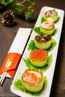 Cucumber Wrapped Sushi | JustOneCookbook.com