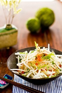 Daikon Salad with Japanese Plum Dressing | JustOneCookbook.com