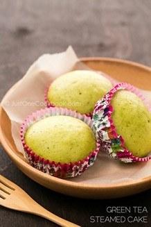 Green Tea Steamed Cake | JustOneCookbook.com