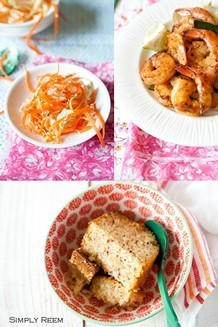 Honey Glazed Shrimps with Asian Coleslaw | JustOneCookbook.com