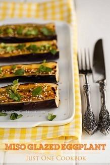 Miso Glazed Eggplant | JustOneCookbook.com