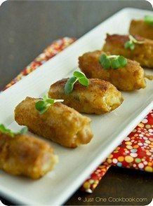 Potato Salad Pork Rolls | JustOneCookbook.com