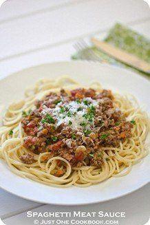 Spaghetti Meat Sauce | JustOneCookbook.com