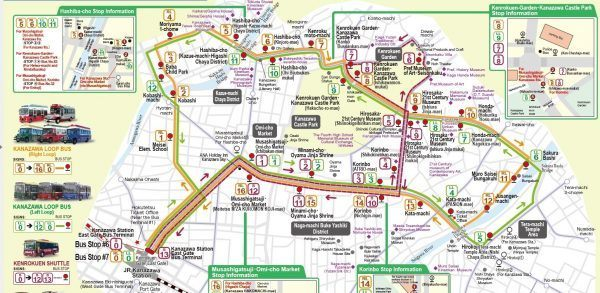 Kanazawa Loop Bus Route