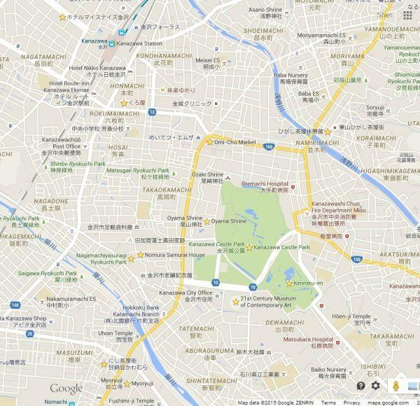Kanazawa Google Maps
