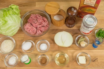 Stuffed Cabbage Rolls Ingredients