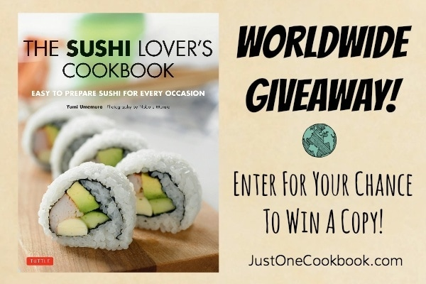 The Sushi Lover's Cookbook Giveaway | JustOneCookbook.com