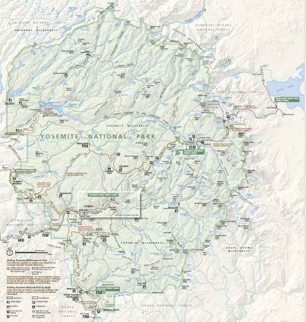 Yosemite National Park Map | Just One Cookbook