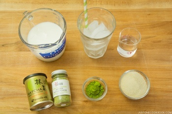 Iced Green Tea Latte Ingredients