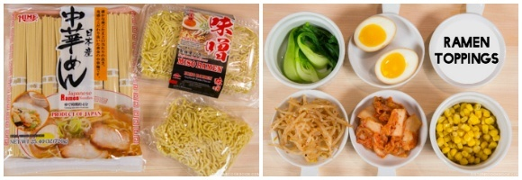 Vegetarian Ramen Ingredients 2-3