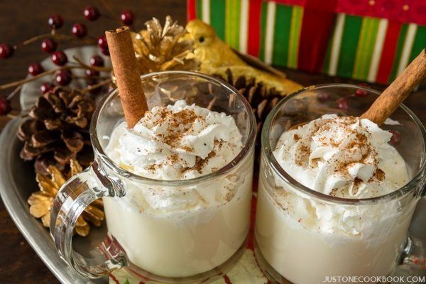 Drink Eggnog Hot or Cold? • Just One Cookbook