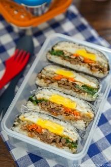 Bulgogi Onigirazu (Rice Sandwich)   Easy Japanese Recipes at JustOneCookbook.com