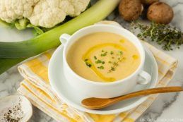 Creamy Roasted Cauliflower Soup | JustOneCookbook.com