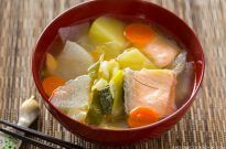 Sanpei-jiru (Salmon Soup from Hokkaido, Japan) | Easy Japanese Recipes at JustOneCookbook.com