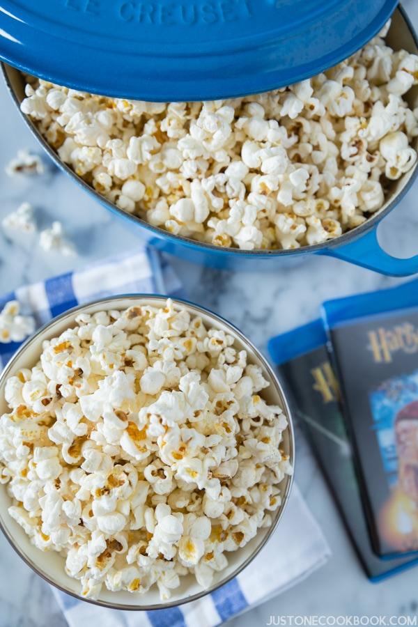 Homemade Popcorn with Truffle Salt | JustOneCookbook.com