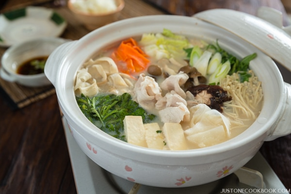Soy Milk Hot Pot (Tonyu Nabe 豆乳鍋) | Easy Japanese Recipes at JustOneCookbook.com