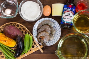 gluten free tempura ingredients