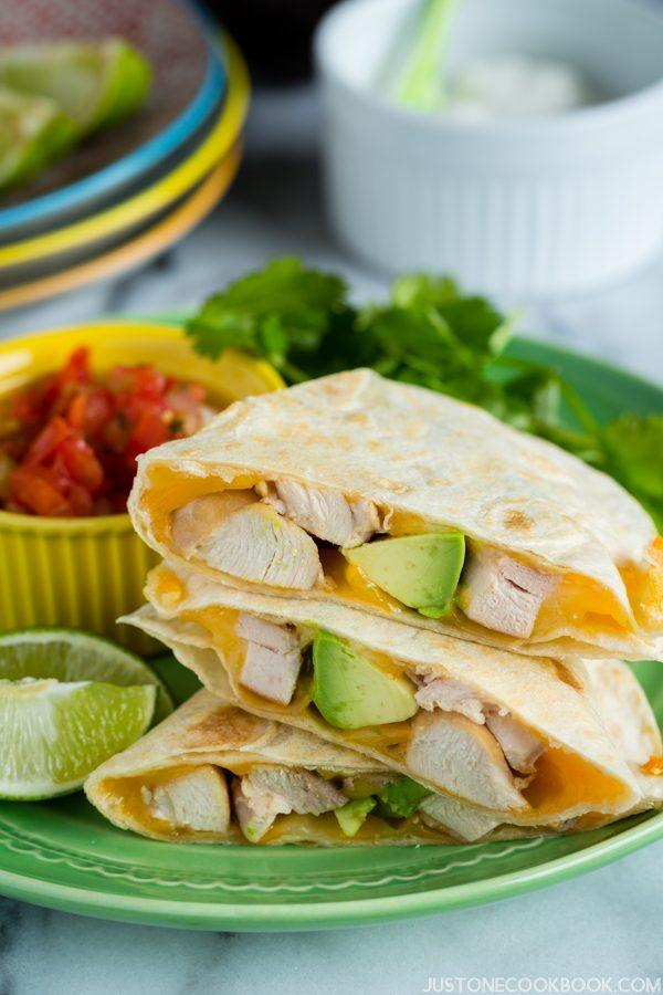 Teriyaki Chicken Quesadilla | Easy Japanese Recipes at JustOneCookbook.com