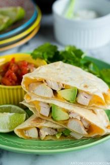 Teriyaki Chicken Quesadilla   Easy Japanese Recipes at JustOneCookbook.com