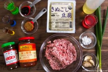 Mapo Tofu Ingredients