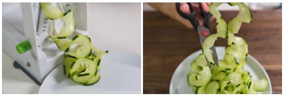 Spiralized Cucumber Salad 6