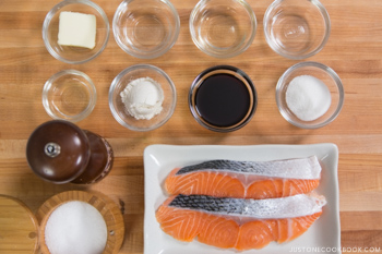 Teriyaki Salmon Ingredients