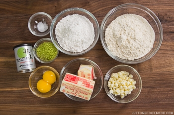 Green Tea Cookies Ingredients