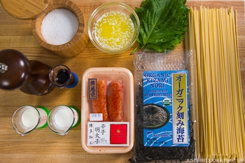 Mentaiko Pasta Ingredients