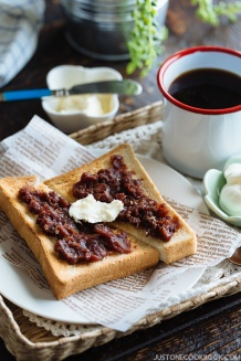 Ogura Toast (Toast with Red Bean Paste) - Popular Nagoya Food | Easy Japanese Recipes at JustOneCookbook.co