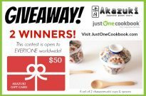 $50 Akazuki Gift Card & Chawanmushi Cup Set Giveaway (Worldwide) (Closed)