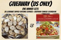 Gourmet Dipped Fortune Cookies & Chinese Cookbook Giveaway! (US only) (Closed)
